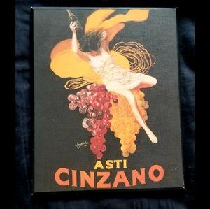 Vintage print wall art - Asti Cinzano wine